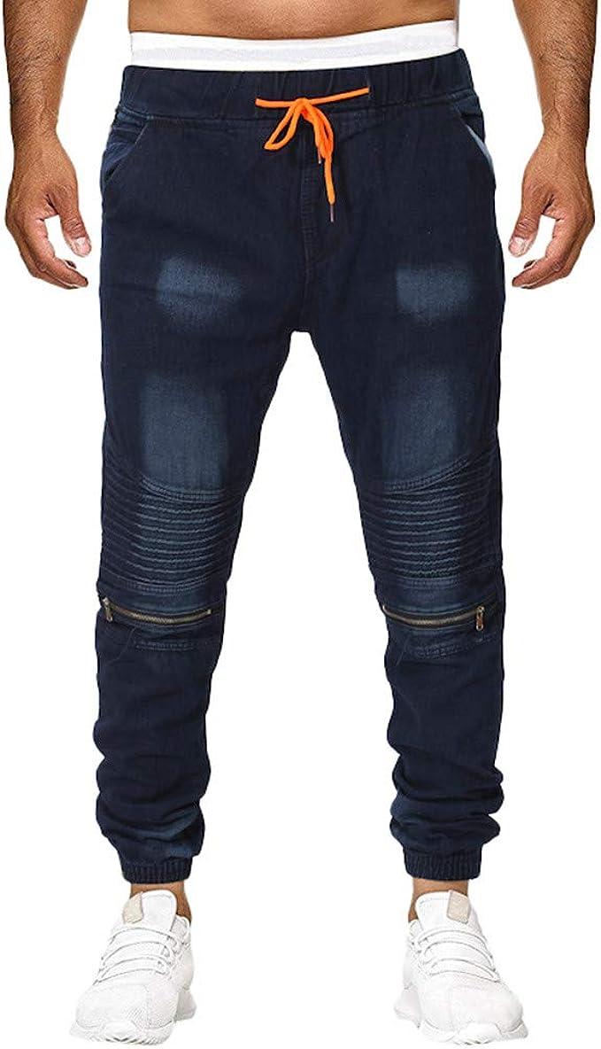 NPRADLA Pantalon Mode Hommes DéContractéE Jeans DéTruit