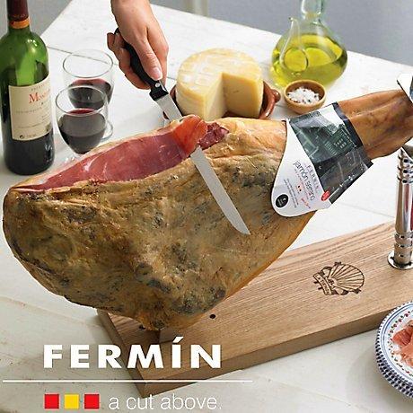 (Fermin Bone In Jamon Serrano (16-18 lbs, holder not included))