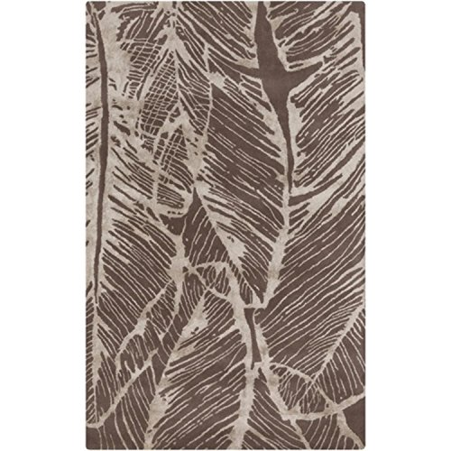 UPC 257554153038, 2' x 3' Feather Embrace Taupe and Beige New Zealand Wool Area Throw Rug