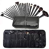 Cadrim 24pcs Makeup Brush Set Professional Makeup Kits Brushes Cosmetic Makeup Set for Women with Pouch Bag Case (24pcs black)