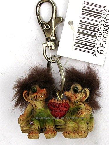Llavero de troll Pareja con corazón, Noruega: Amazon.es ...