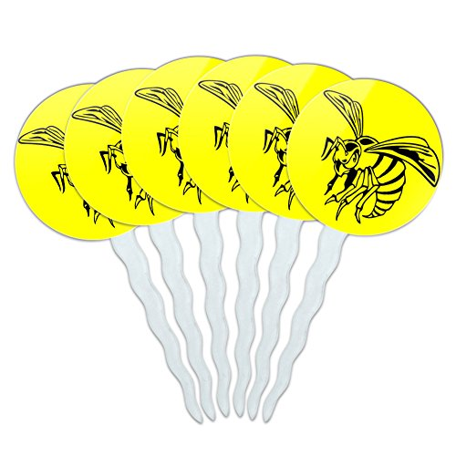 Set of 6 Cupcake Picks Toppers Decoration Insects