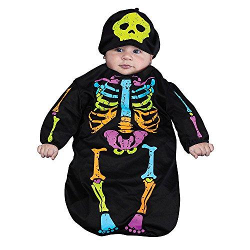 Skele-Baby Skeleton Bunting Costume, 0-9 Months (Baby Bunting Halloween Costume)