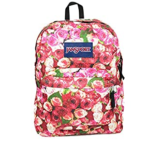 Jansport T501 Superbreak Backpack (One Size, Multi Vintage Rose)