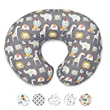 Boppy Original Nursing Pillow and Positioner, Sketch Slate Gray, Cotton Blend Fabric with allover fashion: more info