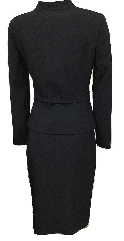 34c56932b35c Amazon.com: Tahari by Arthur S. Levine Womens Belted Jacket Skirt Suit,  Black (Petite) (2 Petite): Clothing