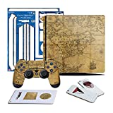 Controller Gear Uncharted 4 Map - PS4 SLIM Vertical Console & Controller Gaming Skin Pack - Licensed by PS