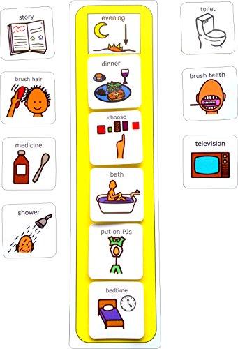 Plastic Visual ASD Evening Routine (Picture Communication Symbols -