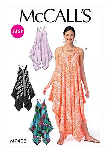 Amazon McCalls Ladies Easy Sewing Pattern 60 Handkerchief Hem Custom Easy Dress Sewing Patterns
