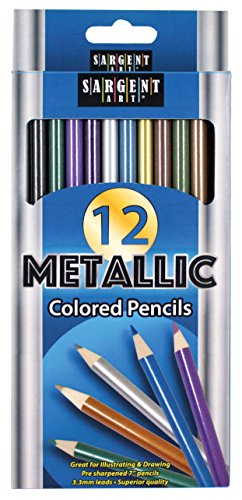 Sargent Art (SARAD) 22-7231 Metallic Colored Pencils, Assorted