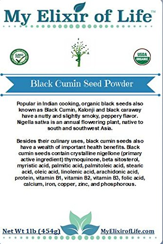 Organic NIGELLA SATIVA Seed POWDER-AKA Black Cumin ,Kalonji, Black Seed- 1 lb by My Elixir of Life (Image #3)