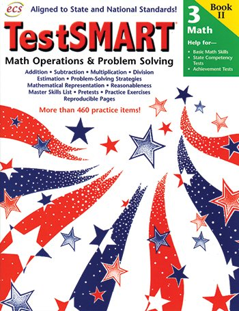 TestSMART Math Operations and Problem Solving Grade 3: Help for Basic Math Skills, State Competency Tests, Achievement -