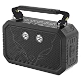 Waterproof Bluetooth Speaker,DOSS Traveler portable IP66 Waterproof Shockproof Dustproof Bluetooth speaker with 3W flashlight and 20W bold sound,12H Playtime,Handsfree,Perfect for outdoor[Rock Black]