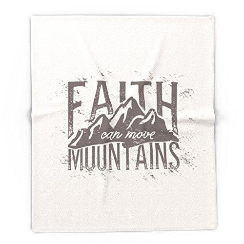 Society6 Faith Can Move Mountians 88'' x 104'' Blanket by Society6