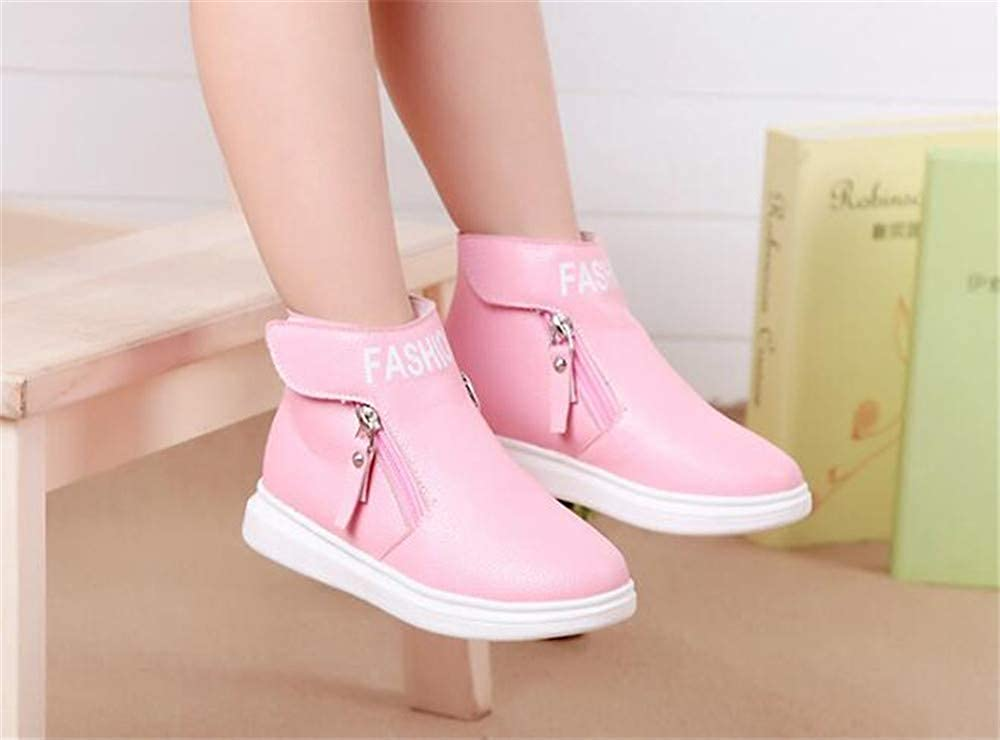 Toddler High Top Sneakers Ankle Boots Warm Shoelace Martin Boots Shoes