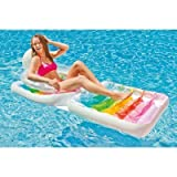 "Intex Folding Inflatable Lounge Water Chair, 78"" X 37"""