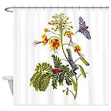 CafePress - Maria Sibylla Merian Botanical - Decorative Fabric Shower Curtain