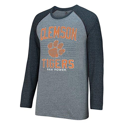 - J America NCAA Clemson Tigers Men's AAA Tee Baseball Tee, Graphite Heather, Medium