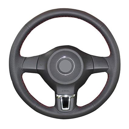 CFHMLK Cubierta del Volante, para Volkswagen Golf 6 Mk6, para VW ...