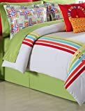 Fiesta 4 Piece Selaya Comforter Set - King - with Coordinating Bed Skirt & 2 Pillow Shams