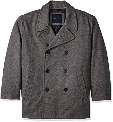Tommy Hilfiger Men's Big Wool Melton Classic Peacoat, Light Grey, 3X-Large