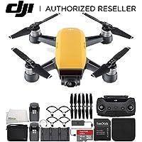 DJI Spark Portable Mini Drone Quadcopter Fly More Combo Bundle (Sunrise Yellow)