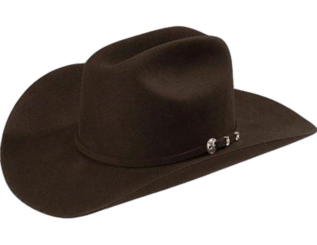 Stetson Men's 4X Corral Buffalo Felt Cowboy Hat Chocolate 7 1/8