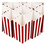 popcorn bags or boxes - Set of 100 Popcorn Favor Boxes - Mini Paper Popcorn Bags and Snack Containers, Carnival Party Supplies for Movie Night, Movie Theme Party, Red and White, 20 Ounce, 3.3 x 5.6 x 3.3 Inches