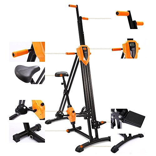 Anfan Vertical Climber Folding Exercise Climbing Machine, Exercise Equipment Climber for Home Gym, Exercise Bike for Home Body Trainer (US Stock)