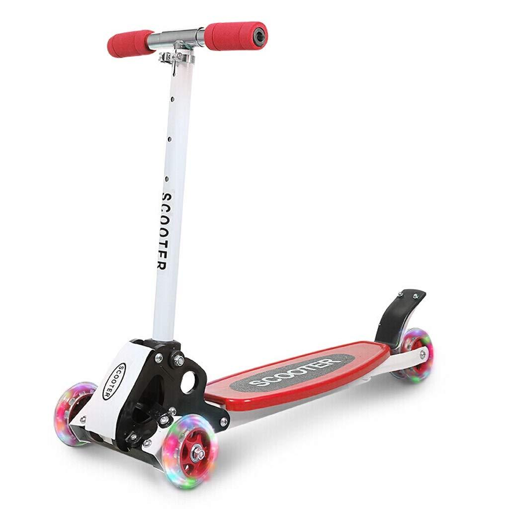 安い割引 2つの後部車輪が付いている幼児子供の女の子の男の子のための3つの車輪のスクーター子供のスクーターの折りたたみ3つの車輪のスクーターPUのフラッシュ車輪、高さ調節可能な55cm-80cm (色 : (色 B07PSBQPFJ Red) Red) Red B07PSBQPFJ, 川本町:9ba97f28 --- senas.4x4.lt