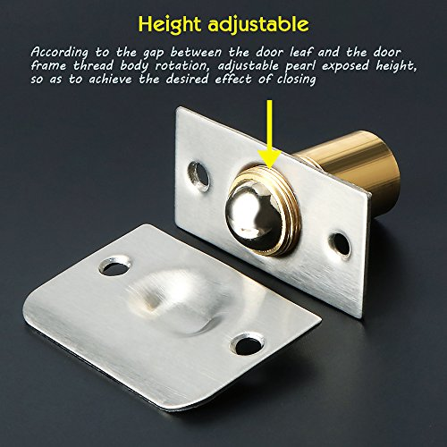 Alise PZ002-2P Drive-in Closet Door Ball Catch,with Stainless Steel Strike Plate,2 Pcs by Alise (Image #2)