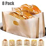 Heat Resistant Toaster Bags,Non-Stick Reusable Toaster Bags FDA Approved, Perfect for Grilled Cheese Sandwiches, Panini,Chicken,Nuggets and Garlic Toasts (8 Pack)