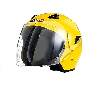 Casco liviano Hombres y Mujeres Motocicleta eléctrica de Cuatro Estaciones (Color : A, Tamaño