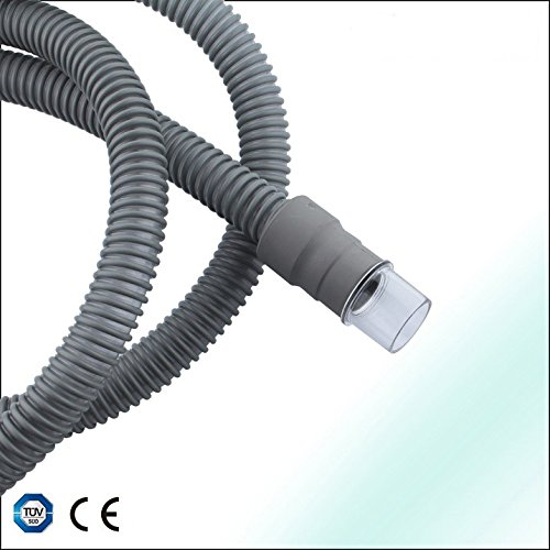Grey cpap bipap respirator tubing hose with free connector