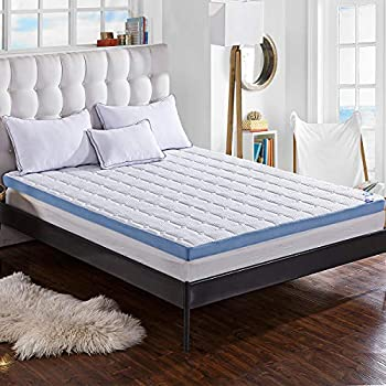 Amazon Com Comfort Amp Relax 3 Inch Foam Mattress Topper With Ultra Soft Cover Twin Size 37 5