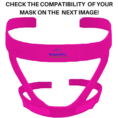 CPAP Headgear Strap: Universal ResMed & Respironics Straps for CPAP / BIPAP Mask, No Air Leaks Ultimate Comfort Tight Seal & Perfect Fit Compatible w/ Full Face & Nasal Apnea Masks Small Pink (Mask Softgel Cpap Nasal)