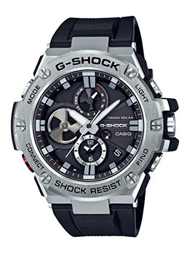 Casio Men's 'G-Shock' Quartz Resin Dress Watch, Color:Black (Model: GST-B100-1ACR)