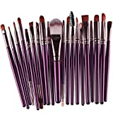 Binmer(TM)20pcs/Set Professional Makeup Brush Tools Make-up Toiletry Kit Wool Make Up Brush Set Powder Brush Foundation Brush Eyebrow Eyeliner (Purple)