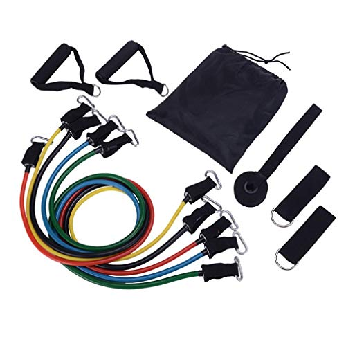 PREUP Resistance Bands Set 100LBS 11pcs Available Pull Up Assist Bands Fitness Stretch Workout Band Professional…