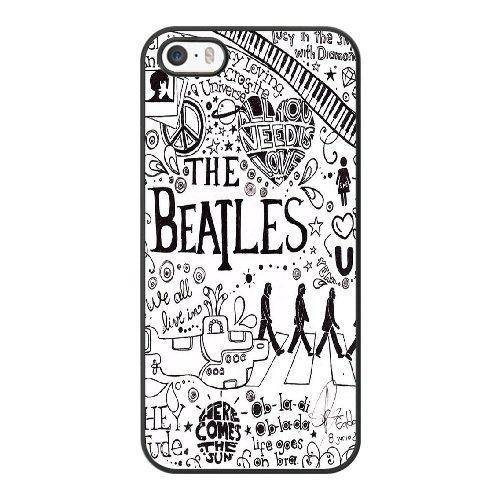 Coque,Coque iphone 5 5S SE Case Coque, Beatles Noir Cover For Coque iphone 5 5S SE Cell Phone Case Cover Noir