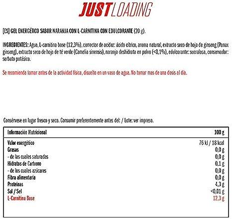 Just Loading - Geles L-Carnitina Naranja 30 uds 20 g: Amazon ...