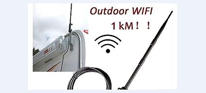 Amazon com: 1000M High Power Outdoor WiFi Antenna USB Adapter