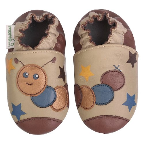 Momo Baby Boys Soft Sole Leather Crib Bootie Shoes - 12-18 Months/4.5-5.5 M US Toddler