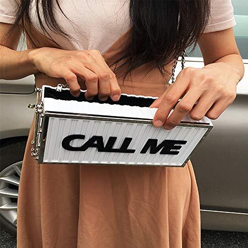 Design Acrilico Ladies Tracolla A Lettera Mini Bag Fufufuchen Catena Mano Di Bianca Messenger Qualità Flap Partito Buona Borsa Moda Del nbsp; nbsp;nero Chiamami Box Frizione qwwXIH6
