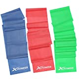 xFitness Flat Latex Stretch Resistance Training Bands – Long Fitness Stretch Band Yoga Straps, Best for Home Gym Workout, Yoga, Pilates, Arms Pull Up Strength Training, Physical Therapy