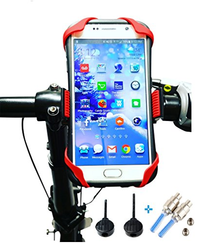 Price comparison product image Bike Mount Phone Holder by Spidor -Universal Bicycle Handlebar Cradle Mobile Holder with 360 Rotation for iPhone 7 Plus 6 5,  Android Smartphones