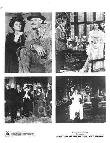MOVIE PHOTO: THE GIRL IN THE RED VELVET SWING-1955-B&W-8