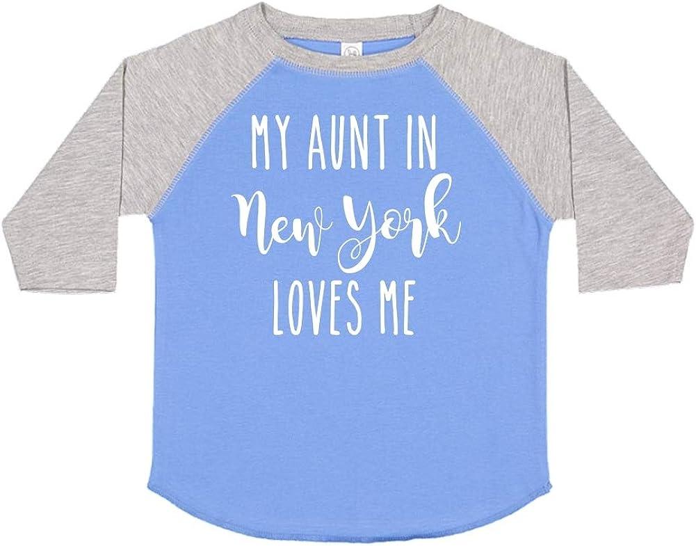 Toddler//Kids Raglan T-Shirt My Aunt in New York Loves Me