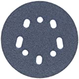 Norton 07660782112 3X High Performance Hook and Sand Universal Vac Hole Paper Abrasive Disc with Hook and Loop Attachment, Fiber Backing, Ceramic Aluminum Oxide, 5 and 8 Holes, 5'' Diameter, Grit P60 Coarse (Pack of 40)