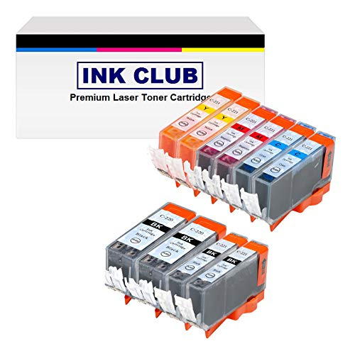 Inkcool 12-Pack (4B/2B/2C/2M/2Y) Non-OEM Printer Ink with Chip for pgi-220 CLI-221 Canon Pixma iP3600 iP4600 iP4700 MP560 MP620 MP640 MX860 MP980